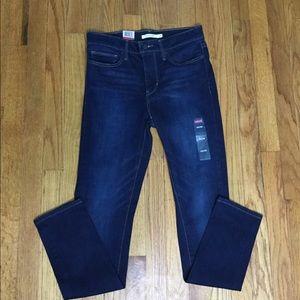 Levi's 6 28 X 30 Navy Blue Jeans Skinny Leggings